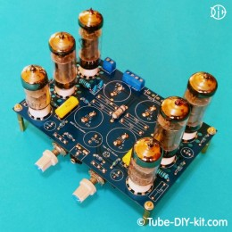 Electronic DIY kit: SRPP stereo low frequency amplifier on affordable tubes