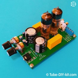 Electronic DIY kit: Tube SRPP Stereo Low Frequency Headphone Amplifier