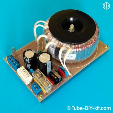 Electronic DIY kit: Power supply for vacuum tubes circuits with an EMI filter