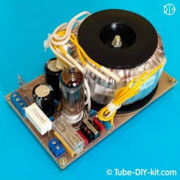 Electronic DIY kit: Power supply for tubes circuits on rectifier with an EMI filter