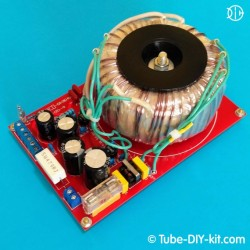 Electronic DIY kit: Power supply for tube SRPP amplifiers with EMI filter