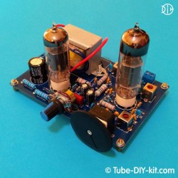 Electronic DIY kit: AM superheterodyne receiver on two vacuum tubes